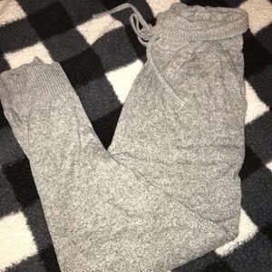 Grey cozy joggers